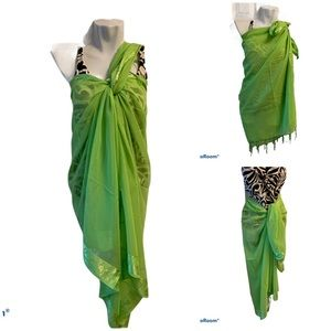 Lime Green Swimsuit Cover-up Sarong NWT